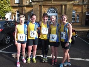 BAC Ladies' Team Lytchett 10 - Helen Ambrosen, Cherry Sheffrin, Nikki Sandell, Gemma Bragg, Caroline Rowley