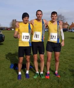 Blackmore Vale HM winning team 2014 - Jacek Cieluszecki (2nd in race), Steve Way (1st) and Jon Sharkey (3rd)